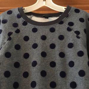 Jcrew Velvet Dot Sweatshirt